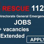 KPK Rescue 1122 Jobs Directorate General Emergency Service 1796+ vacancies 2019 Date Extended