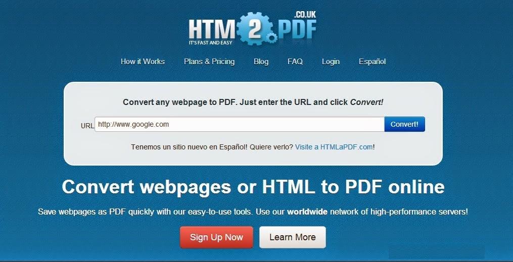 Convert WebPage to PDF Online