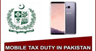 Samsung Galaxy s8 plus mobile tax in pakistan