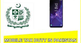 Samsung Galaxy S9 Plus mobile tax detail in pakistan,