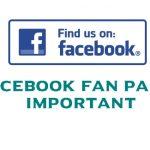 Facebook Fan Page important